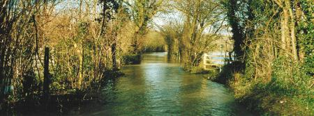 Road flooding Sonning Eye